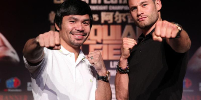MANNY PACQUIAO AND CHRIS ALGIERI DAY 2 SHANGHAI,CHINA