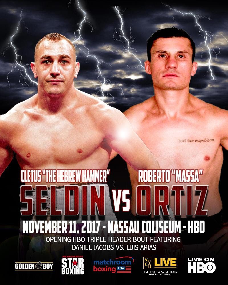"""Sponsor Matchroom Boxing Usa: UNDEFEATED CLETUS """"THE HEBREW HAMMER"""" SELDIN TO TAKE ON"""